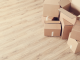 Cardboard boxes on the floor